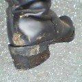 ドロだらけのブーツ。